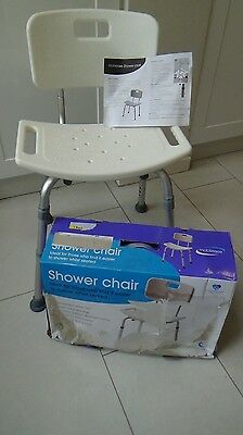 Aluminium Bath Shower Seat Stool Chair Adjustable Mobility