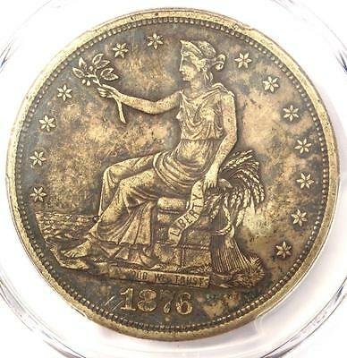 1876-S Trade Silver Dollar T$1 - PCGS XF Details Chop Mark - Rare Coin!