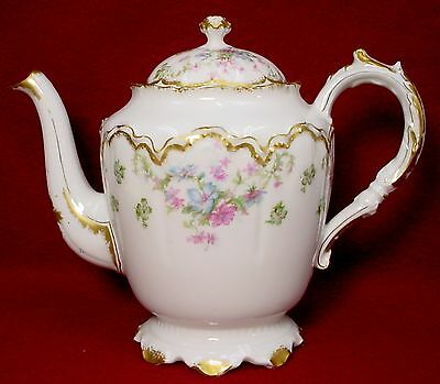 HAVILAND china SCHLEIGER 72 Blank 22 pattern TEAPOT with LID