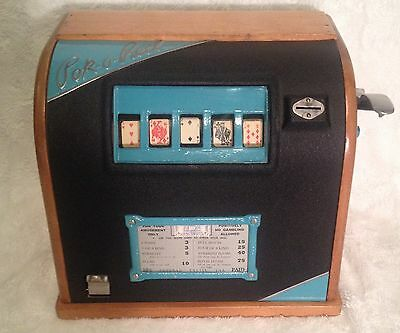 1934 Groetchen Pok-O-Reel Poker Trade Stimulator Gumball Machine