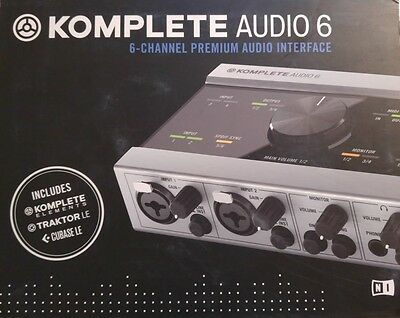 6 Channel Native Instruments Komplete Audio 6 - Premium Audio Interface - NEW