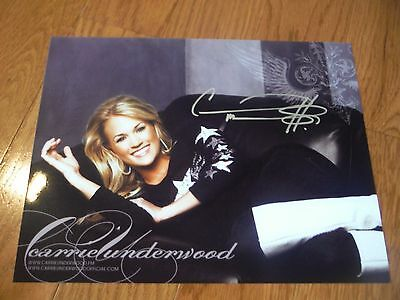 Carrie Underwood Autographed 8.5x11 Photo Hand Signed American Idol