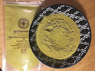 100% Organic Natural Rajasthani (Sojat) Henna Powder 2016 (BAQ) & Hair