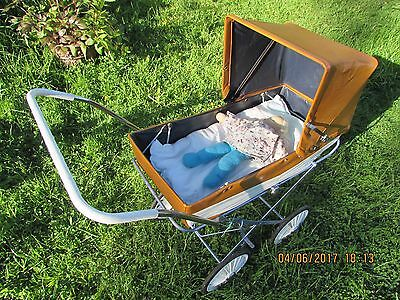 vintage doll pram Triang with doll