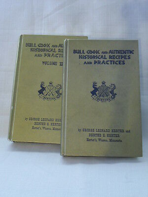 HERTER'S Bull Cook and Authentic Historical Recipes and Practices - Two Volumes