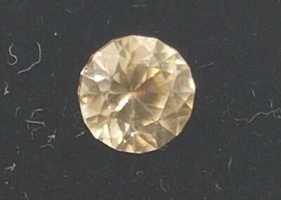 Champagne Zircon, natural, fancy round cut 0.88ct video inside