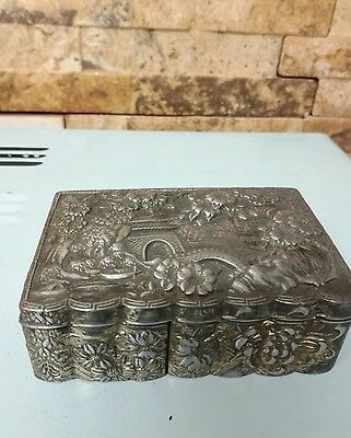 Antique Chinese Metal box.  Fabulous details