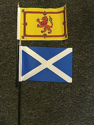 Scottish Hand or Table Flag Football St Andrew Scotland Scots Rugby Royal Lion