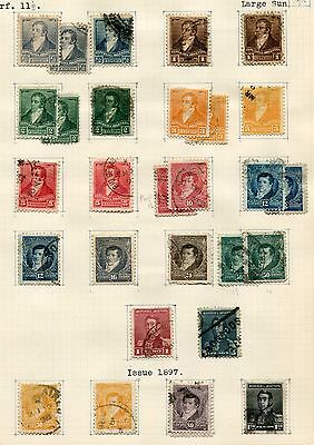 ARGENTINA -  Small collection classics, MH/Canc.