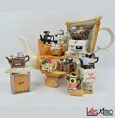 Paul Cardew - large Market Barrow Collectable Teapot with small Fragile Box