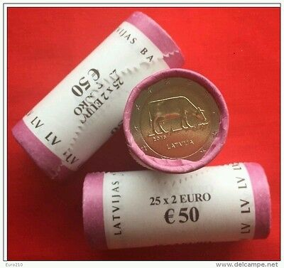 2 euro coin Latvia commemorative cow New UNC uncirculated from UK