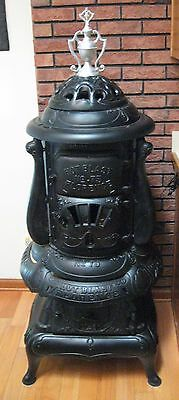 Antique 1917 Florence Hot Blast No 75 Wood Coal Burning Pot Belly Parlor Stove