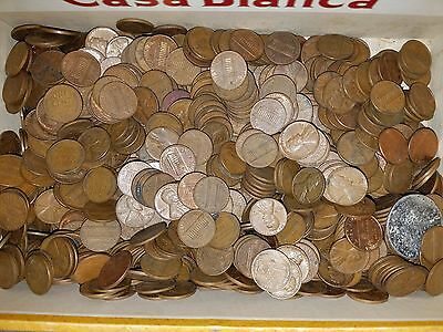Honestly unsearched lincoln penny pennies some wheat mixed dates cent  6 pounds
