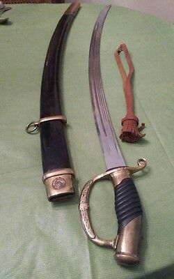 """Beautiful Russian Dragoon Officer's Sabre (Sword) with Scabbard 49.5"""""""