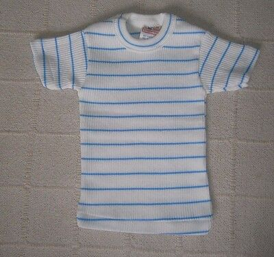 Vintage Baby T-shirt - Age 1-2 Years - Blue & white Stripe - New