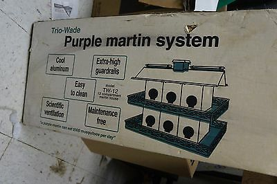 TRIO  Wade PURPLE MARTIN BIRD HOUSE 12 ROOM Box Plus Post