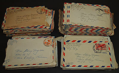 Vintage Lot 180+ WW2 1944 1945 LETTERS HOME USAAF 744th Bomb Squadron Wife ITALY