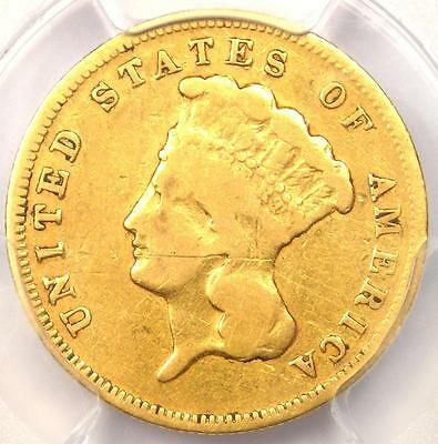 1878 Three Dollar Indian Gold Piece $3 - Certified PCGS Fine Detail - Rare Coin!