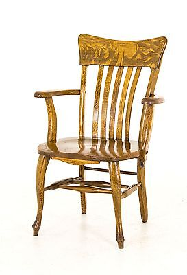 Wooden Arm Chair | Banker's Chair | Vintage Mission Oak Office Chair|1920|B746
