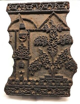 Antique India Wooden Hand Carved Batik Textile Printing Block/stamp