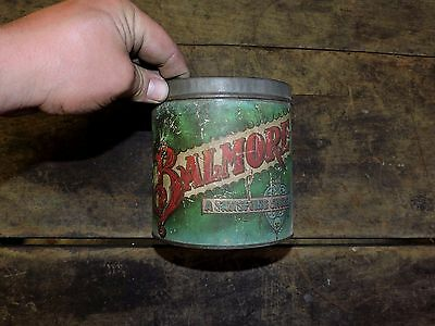 Antique Baltimore 5 Cent Cigar Maryland Tobacco Tin, No Lid, (VE)