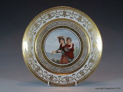 PARIS SEVRES PORCELAIN PLATE 18TH-EARLY 19TH CENT assiette