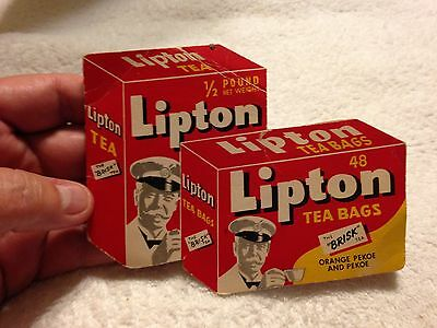 Vintage Lipton Tea Bags Sewing Needle Kit Bi-Fold Advertising West Germany