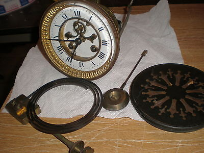 Antique-French-Open Escapement-Clock Movement-Ca.1880-To Restore-#N935