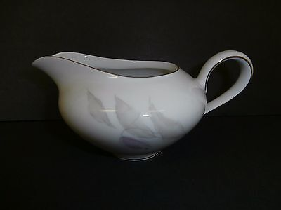 KPM Krister China Creamer Abstract Leaves Gold Trim Germany White--Nice!!