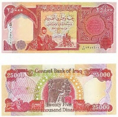 Iraqi Dinar Iqd 25,000 Unc Uncirculated Banknote  Brand New Condition 25000 Bill