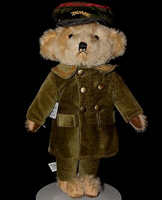"12.5"" Vintage Mohair Harrods Bell Hop Teddy Bear Made in England by Merrythought"