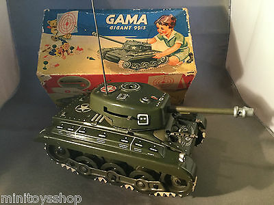Gama Tank Gigant 99/3 Blechpanzer - Tin Toy Boxed