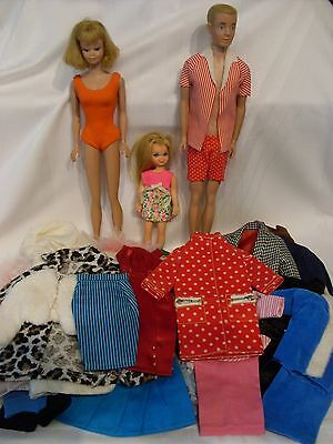 Lot of Vintage Midge Ken Tutti Dolls & Clothes Japan 1960s