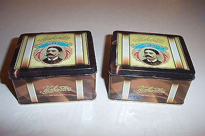 2 HABANITOS by Don Lino 50 Cigar Metal Tins made in Dominican Republic