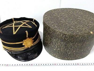 WWII Japanese Military Imperial Soldier's Dress uniform Hat Cap and Box set-E-
