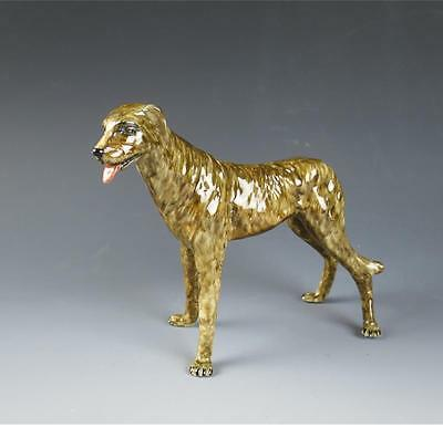 Muller-Volkstedt Dresden Irish Wolfhound Scottish Deerhound Porcelain Figurine