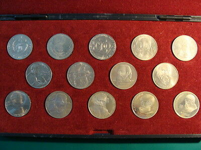 Russia Collection Of 14 Mix Proof & Unc  Coins   In Hard Box # 3