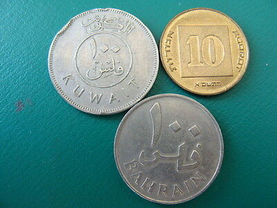 Middle East Mix Countries 3 Coins Lot#c