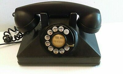 Northern Electric  Company Ltd,  Old Vintage Black Rotary Telephone, dated 1935.