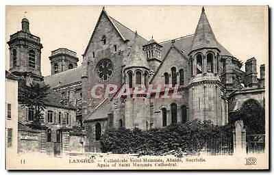 CPA Langres Cathedrale Saint Mammes Aside