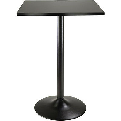 Obsidian Counter-Height Square Dining Table, Black