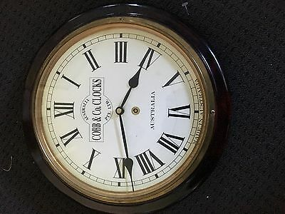 Cobb & Co. Wall Clock - Timber Battery Operated In Perfect Condition
