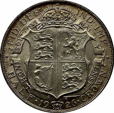 1926 George V Half-crown silver coin Modified effigy ESC 774 Scarce