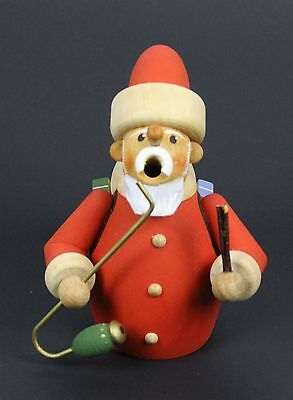 "Christmas Santa With Gifts Wooden Figure 4-1/2"" Tall"