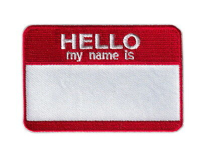 Hook Blank Hello my name is Tactical Morale Gear Military Army Operator Patch