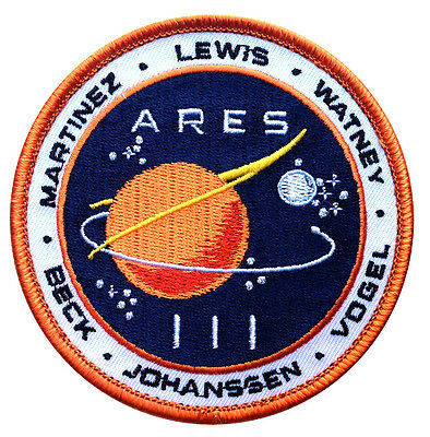 Martian ARES 3 Movie Costume NASA Space ISS Watney Colony Cosplay Patch