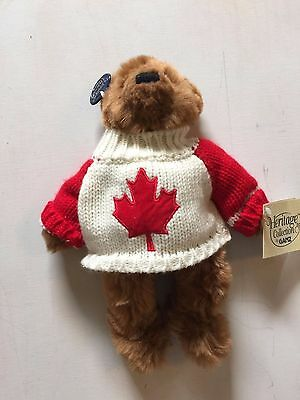 Ganz Heritage Collection Stuff Bear with Canada Sweater