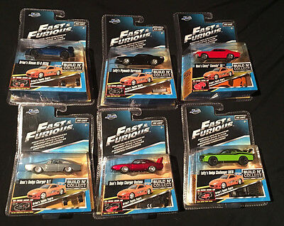 Fast & Furious Build N' Collect Wave 2 Six Cars Set 1/55