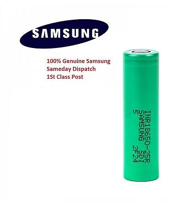 1x Genuine Samsung 18650 25R INR 3.7 2500mAh 20 35A Rechargeable Battery Vape UK