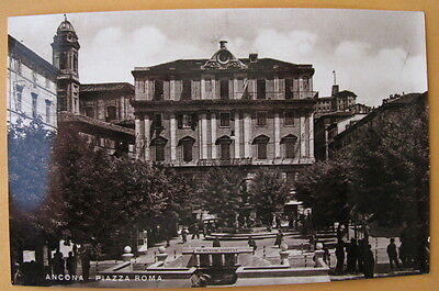 Vintage Post card, Italy - Ancona Piazza Roma- unmarked